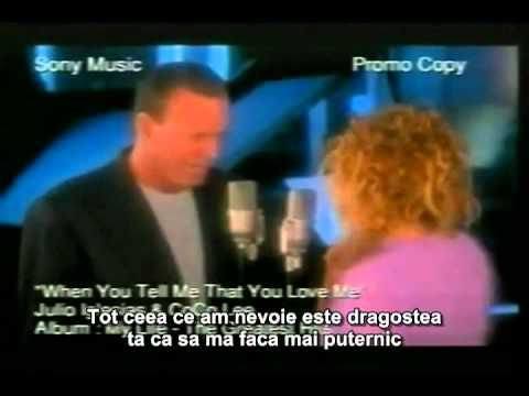 Julio Iglesias & CoCo Lee - When You Tell Me That You Love Me (traducere in romana) - YouTube