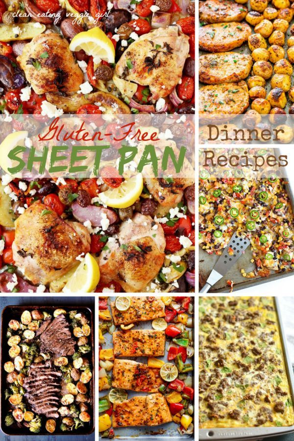 Looking for some Gluten-Free recipes? Here are a variety of Gluten-Free Sheet Pan recipes that are perfect for dinner!