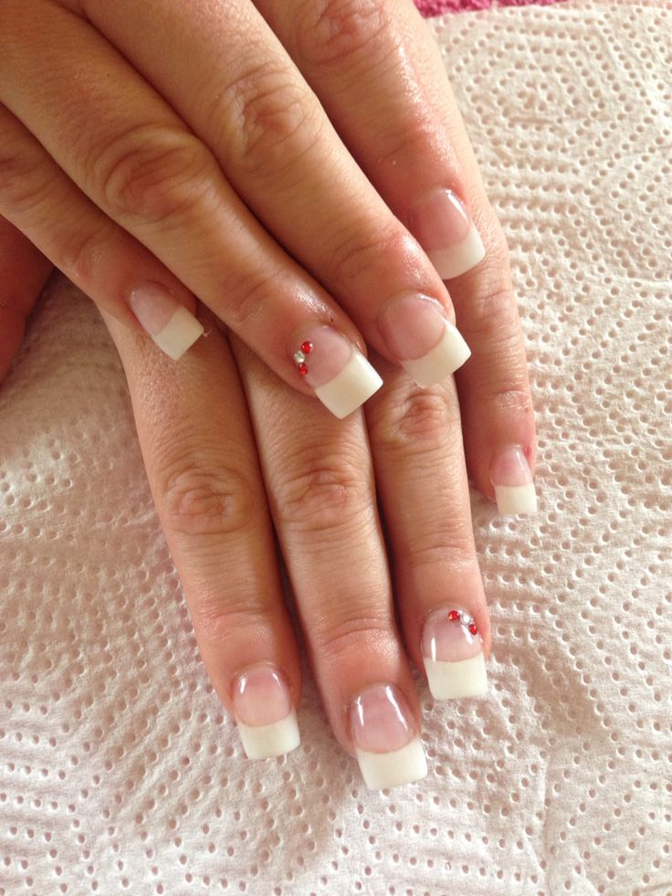 Classic French wedding nails.