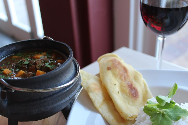 Cape Malay Lamb Curry With Naan Bread & Rice