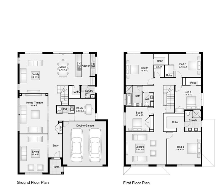 build a floor plan for house. like the position of kitchen  not where pantry laundry located Would prefer main bedroom at back house Walk in robes great each 9 best New build floor plans images on Pinterest Floor