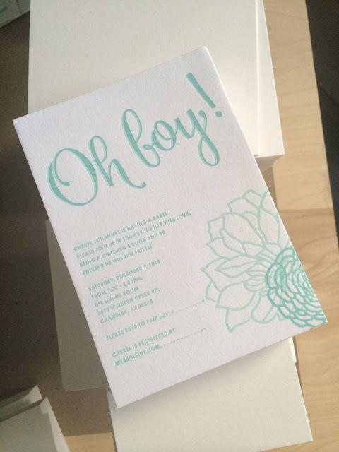 CherJoy: Oh, boy! baby shower invitation