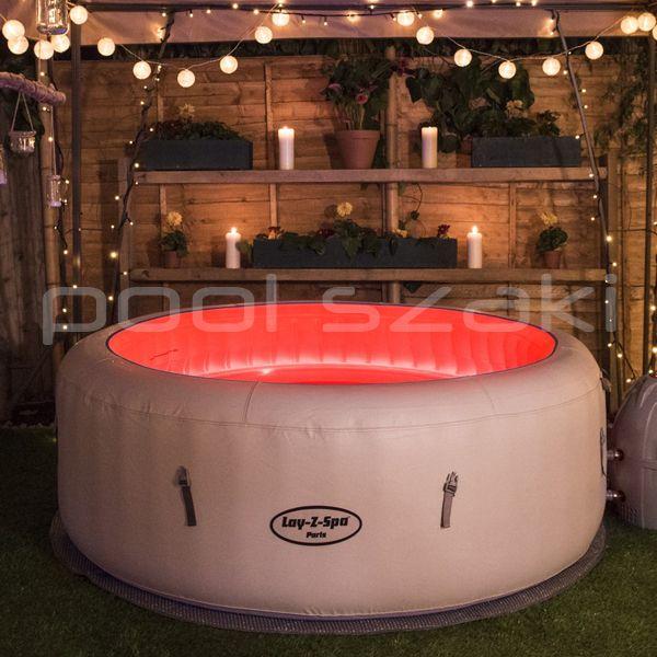 Bestway Lay-Z-Spa PARIS LED felfújható pezsgőfürdő