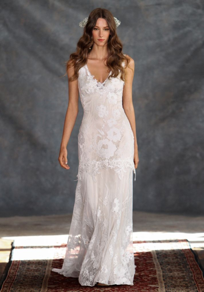 Gorgeous lace wedding dress from the 'Romantique' Collection by Claire Pettibone