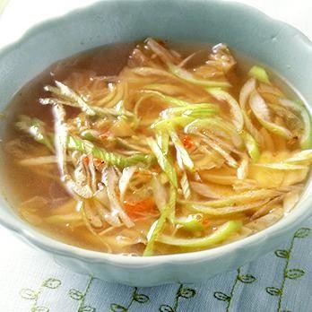 白菜キムチスープ