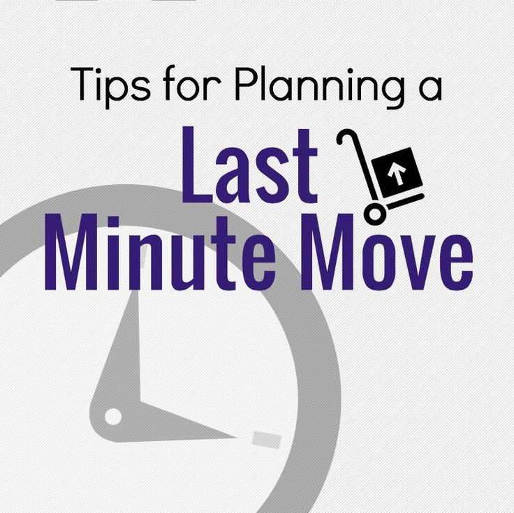 Here's how to plan for a last-minute move. | Results Home Buyers | 618-988-0659 | www.resultshb.com