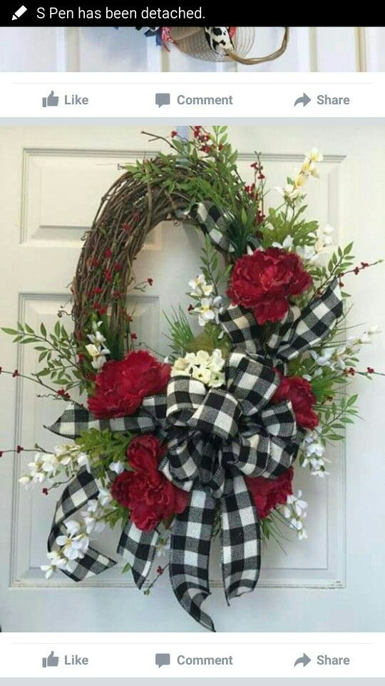 Elegant Front Door Wreath
