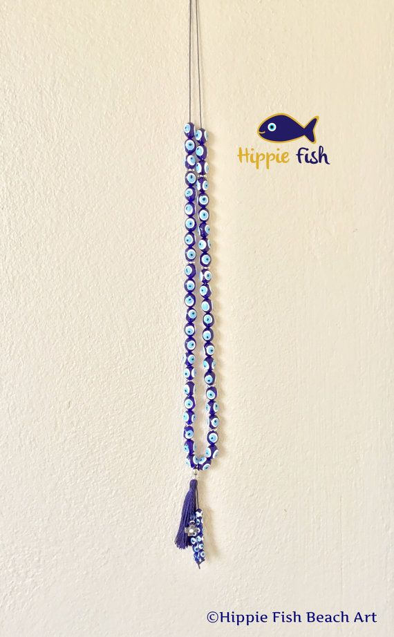 Greek worry beads blue white turquoise worry by hippiefishbeachart