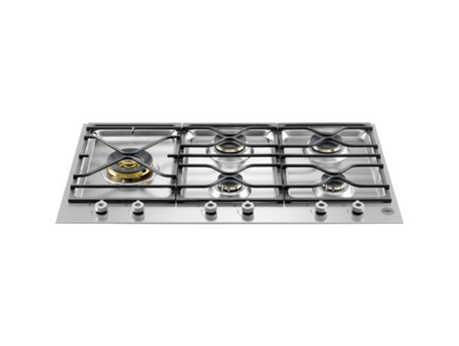 Bertazzoni 90cm gas cooktop from the Professional Series (model PM36 5 S0 X)  for sale at L & M Gold Star (2584 Gold Coast Highway, Mermaid Beach, QLD). Don't see the Bertazzoni product that you want on this board? No worries, we can order it in for you!