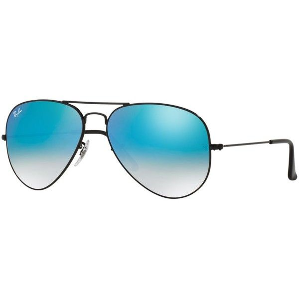 Ray-Ban Sunglasses, RB3025 62 Original Aviator Gradient Mirrored (675 ILS) ❤ liked on Polyvore featuring accessories, eyewear, sunglasses, ray ban glasses, ray ban aviator, mirror aviator glasses, ray ban sunglasses and mirror glasses