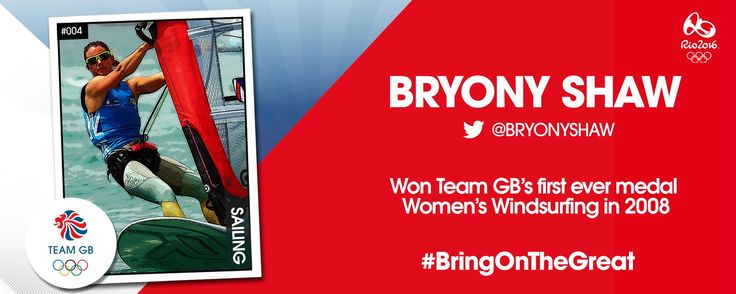 Windsurfer Bryony Shaw is going to Rio 2016 Olympics Games with Team GB.
