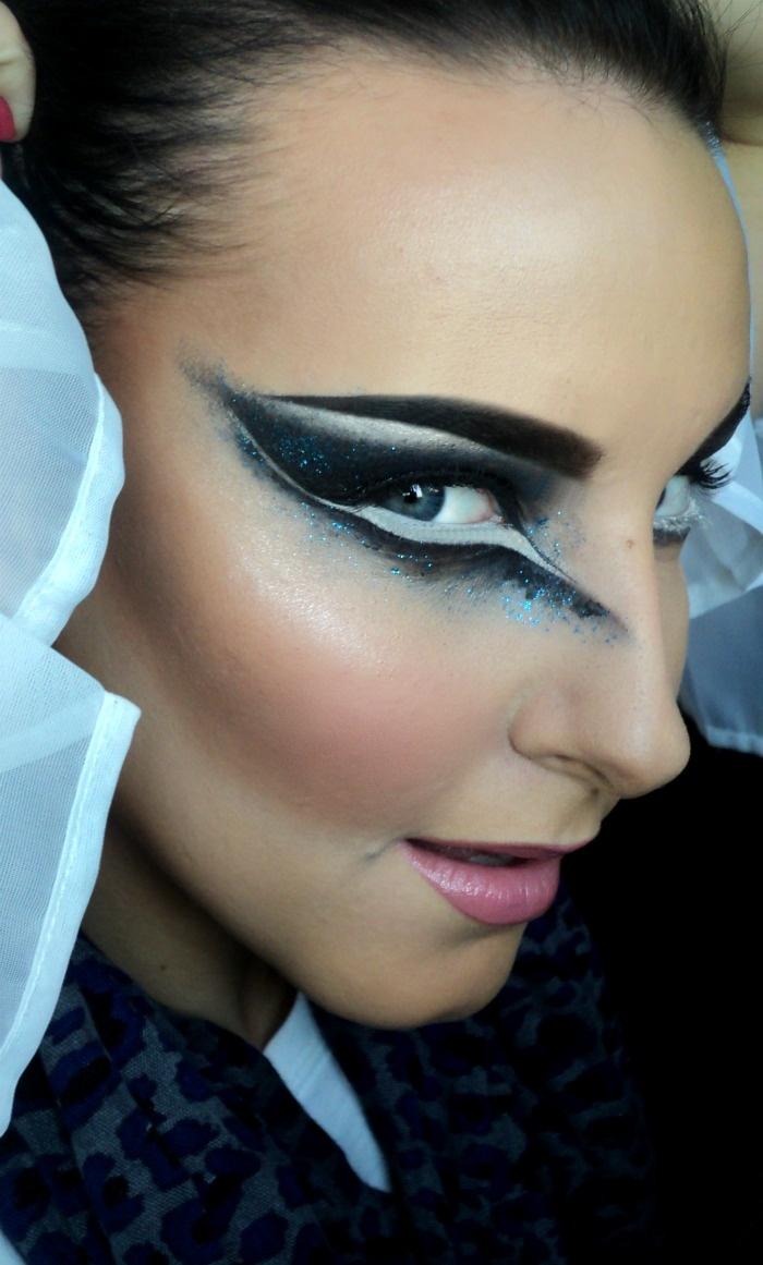 black swan inspired eye.