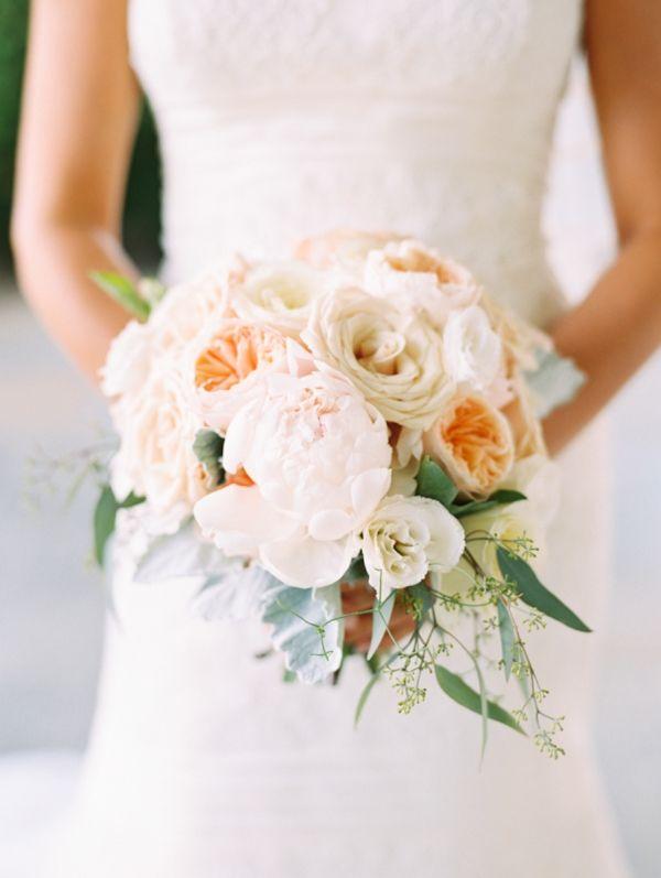 rose, peony, ranunculus, and eucalyptus bouquet   Abby Jiu #wedding