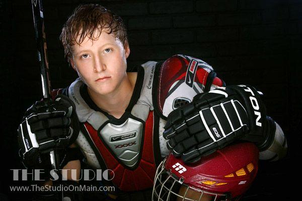 ©The Studio • La Crosse, WI www.TheStudioOnMain.com Boy • Senior • Pictures • Portraits Hockey • Sports