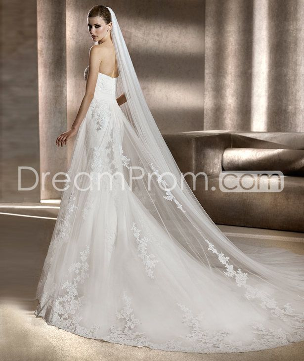 Charming Empire Floor-Length  Sweetheart Tulle  Wedding Dresses 2014 Spring Trends picture 3