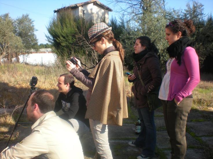 Bites, the crew shooting tombs scenes.