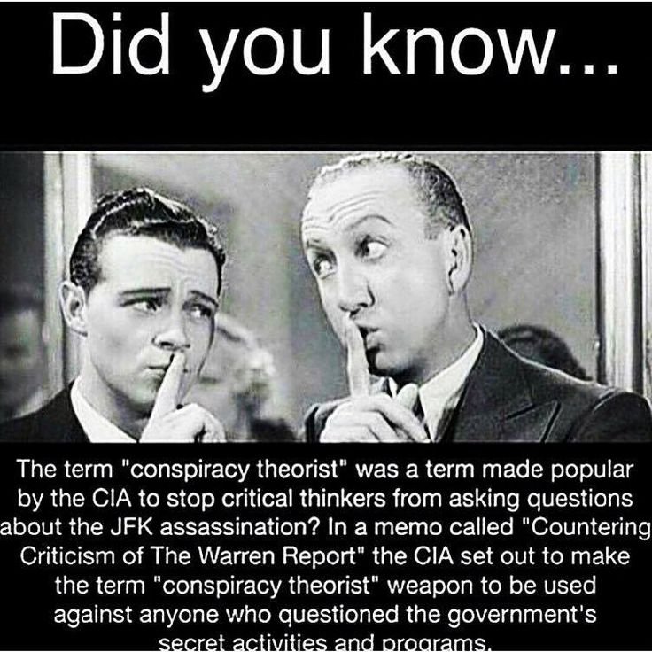 """""""Whenever I hear the words """"Conspiracy Theory"""" it usually means someone is getting too CLOSE to the TRUTH.""""--- former CIA employee, Michael Hasty:----Ref                                 ..               The NWO COMMUNIST CONSPIRATORS have become   very good at DISCREDITING those who EXPOSE their machinations as Frauds, Cranks, Morons, and Treacherous Spies."""
