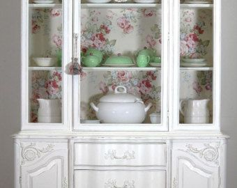 China Cabinet/ French Country Hutch sold di LaVantteHome su Etsy