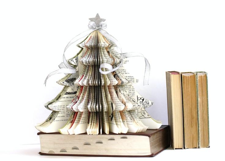 Vintage Book CHRISTMAS TREE teacher gift. $28.00, via Etsy.