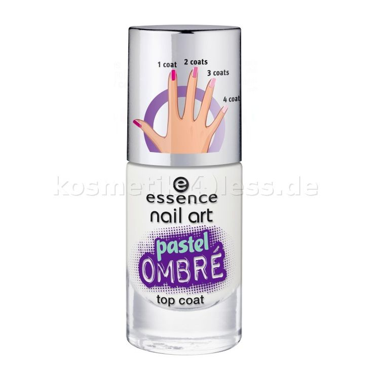essence - Top Coat - nail art - pastel ombré top coat 27 - blurry up! - Cosmetics & False Eyelashes