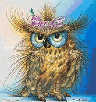 Fashion Owl. Cross Stitch Pattern. Paper verion or PDF Files. Free shipping.. $12.99, via Etsy.
