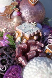 Wianek świąteczny z domkami z piernika-wianki świąteczne,ozdoby świąteczne,dekoracje na Boże Narodzenie