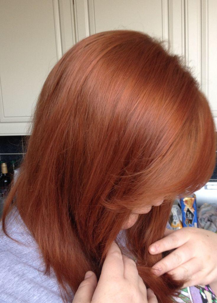 Last hair dye as a red, medium reddish blonde perfect 10