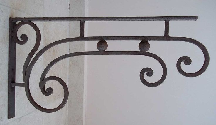 wrought iron double bracket for hanging plants