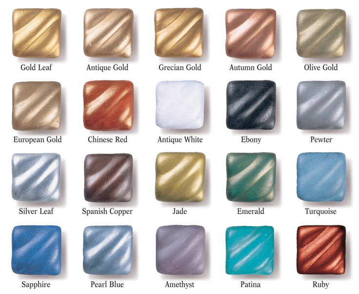 Rub 'N Buff color samples ... pin now, use later