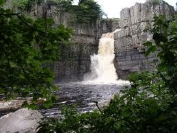 River Tees, 70 miles. Source - Cross Fell. This shows High Force in Upper Teesdale.
