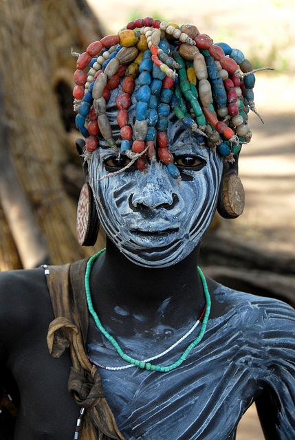 Erbore girl - Omo valley by Jean-Christophe Huet on Flickr.