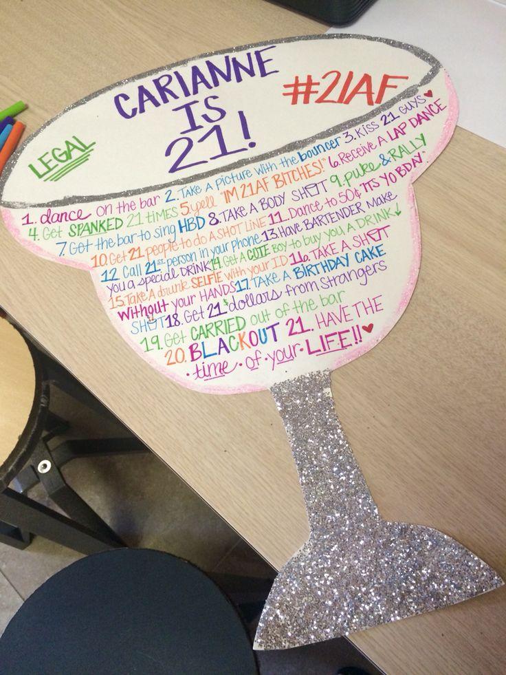 21st Birthday Sign Year Of 21 21st Birthday Checklist