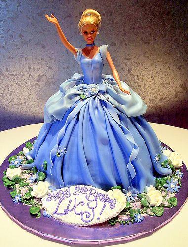 Barbie | 3-D cake as Barbie's dress. Fondant | Rosebud Cakes | Flickr