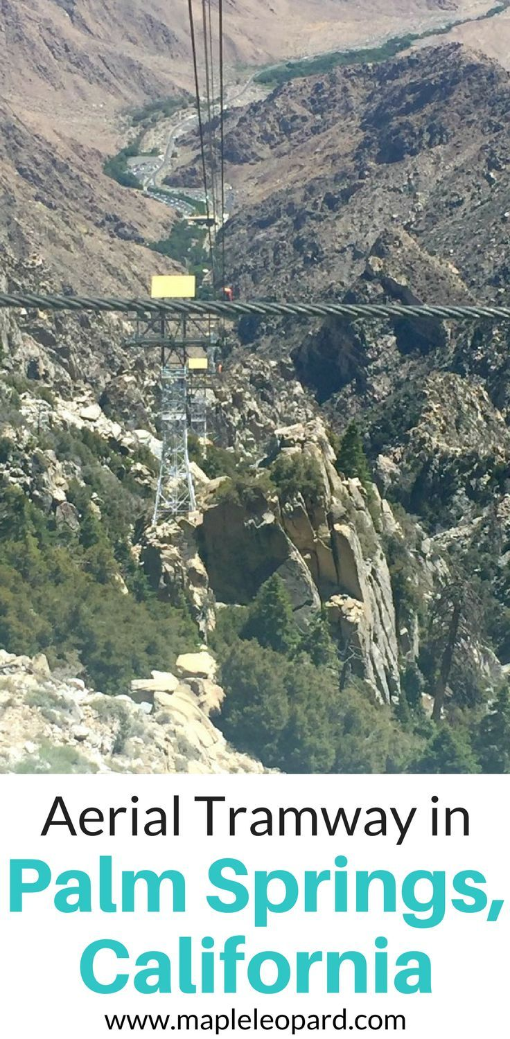 Palm Springs is home to the biggest rotating tram car in the world. The aerial tramway in Palm Springs, California is a unique activity that offers scenic views and a bit of an adrenaline rush. If you find yourself in Palm Springs, California, come check it out. Don't forget to save this to your travel board so you can find it later.