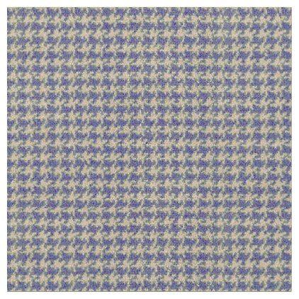 Blue royal blue deep sea blue houndstooth fabric - blue gifts style giftidea diy cyo