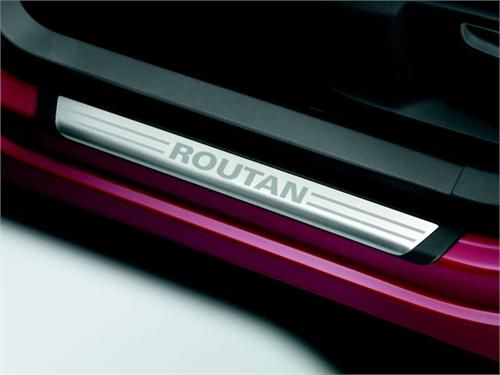 These are the Genuine OEM 2009-2013 Vw Routan Door Sill Plates (J005). These Genuine OEM 2009-2013 Vw Routan Door Sill Plates (J005) are a stylish way to add a custom-look to your car while protecting the inner trim from being damaged from scuffs, scratches and paint chippings!