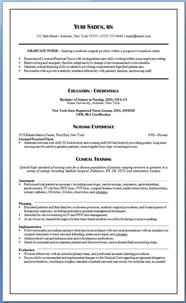 25 New Grad Rn Resume Template Cover Letter Templates