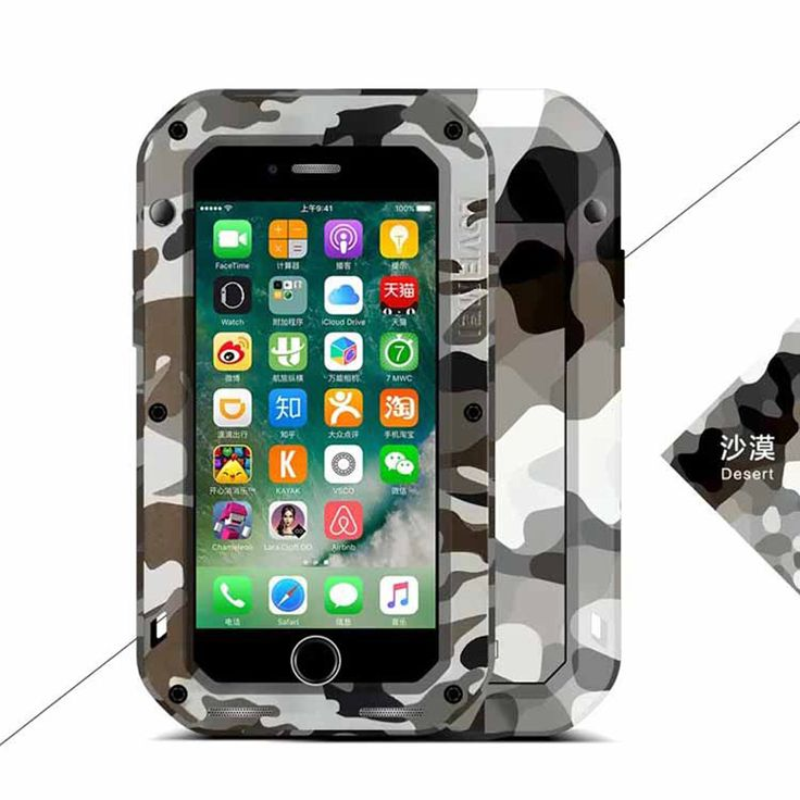 >> Click to Buy << For iphone7 Original LOVE MEI CAMO series Extreme Powerful life Dropproof Snowproof Metal Case for Apple iPhone 7 + box #Affiliate