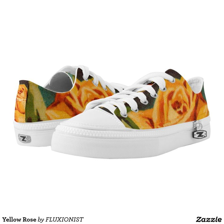 Yellow Rose Printed Shoes - $88.00 Made by Delta Custom / Design: Fluxionist