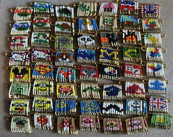 325 best safety pin crafts images on pinterest safety for Safety pins for crafts