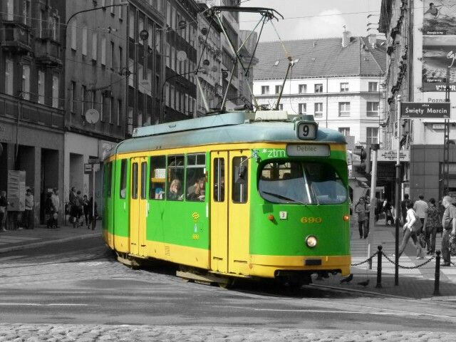 Classic german tram in Poznań