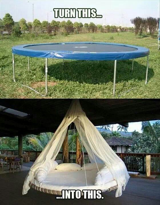 Re-Use Ur Trampoline for Family Room ..