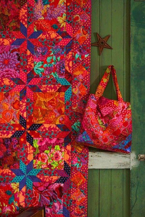Kaffe quilt design - I could die for those pinks!