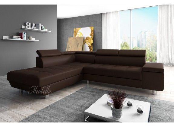 Hoekbank Destiny is een designbank die geschikt is voor ieder type interieur. De bank is voorzien van een lang lounge gedeelte en ruim zitvlak. De Destiny biedt een uitstekend zitcomfort door zijn stevige kussens en rugleuning, en de verstelbare hoofdsteunen. De hoekbank is bekleed met een sterk kunstleer in een bruine kleur. Dit type is ontzettend onderhoudsvriendelijk en gaat jarenlang mee.