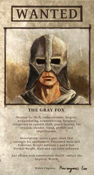 Wanted The Gray Fox by Futurodox.deviantart.com on @deviantART