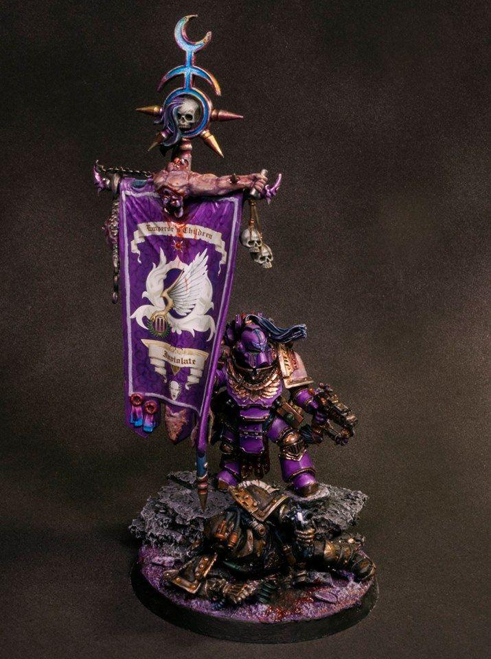 Warhammer 30k Horus Heresy | Emperors Children | Standard Bearer #warhammer #30k…