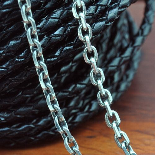"""2.8 Mm Sterling Silver Anchor Link Chain For Men 18""""-28"""""""