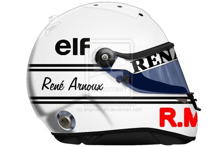 rene arnoux | Rene Arnoux Helmet by engineerJR
