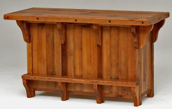 Barn wood bar Rustic wood furniture Pinterest