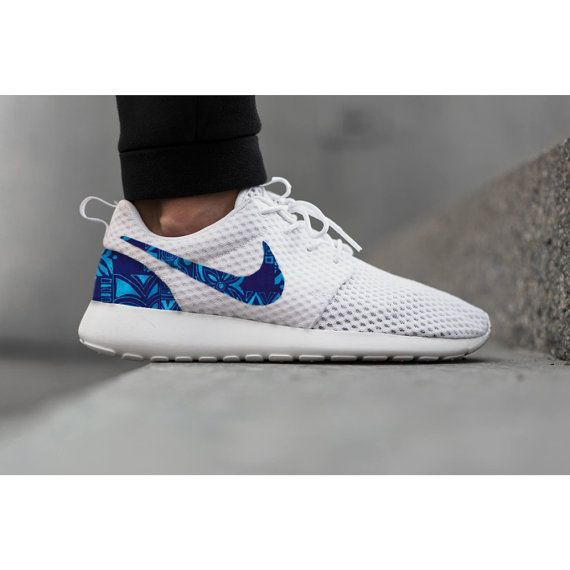 New Nike Roshe Run Custom Blue White Hawaiian Tropical Edition Mens Shoes  Sizes 8 - 13